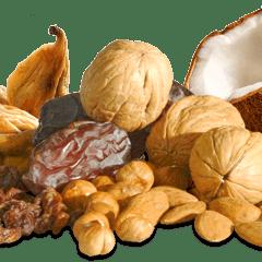 Nüsse, Trockenfrüchte und Gewürze